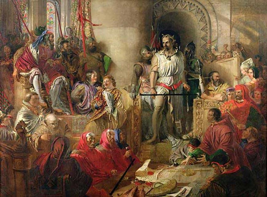 'El juicio de William Wallace en Westminster' óleo de Daniel Maclise pintado en torno al año 1870. (Public Domain)