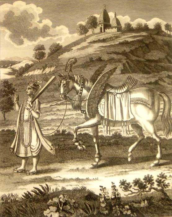 Kalki con su caballo blanco. (Public Domain)