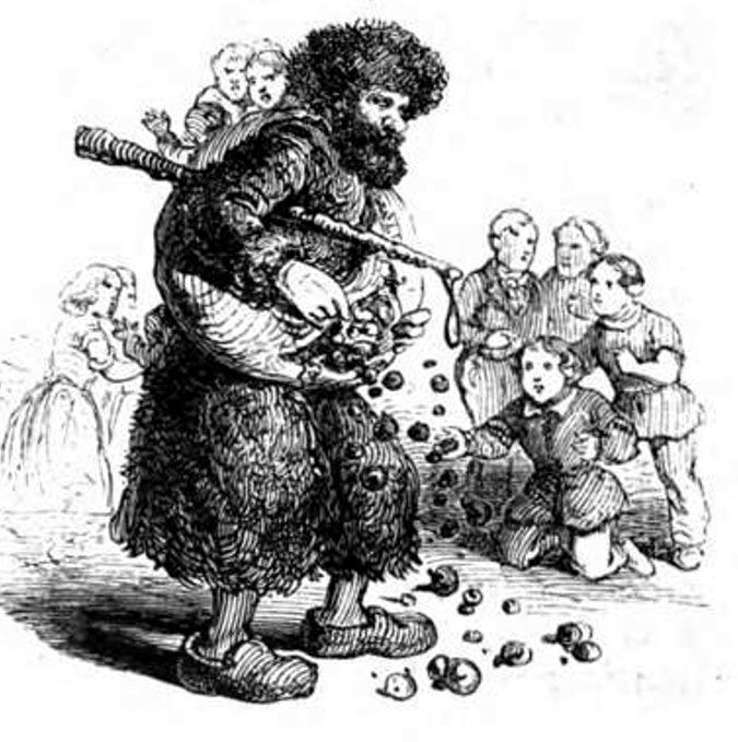 Ilustración de Knecht Ruprecht, 1863. (Public Domain)