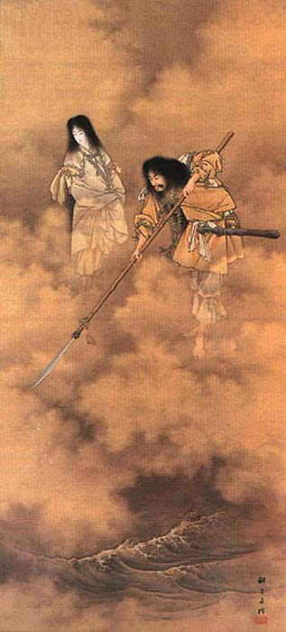 Kobayashi Eitaku, Izanagi e Izanami, c. 1885. (Dominio público)