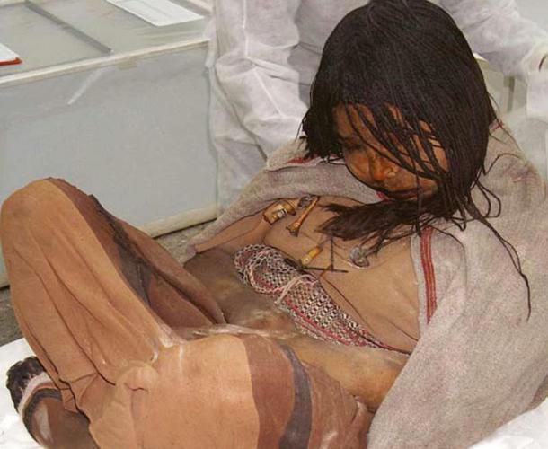 'La Doncella', una de las momias de los 'Niños de Llullaillaco' descubiertas en la provincia argentina de Salta. (grooverpedro / CC BY 2.0). Los Niños de Llullaillaco recibieron un tratamiento similar antes de ser sacrificados.