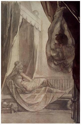 La noche de bodas de Gunther(Johann Heinrich Füssli 1807).
