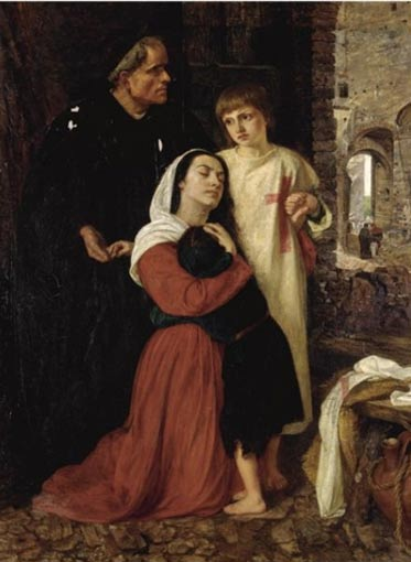 """""""La partida: Episodio de la Cruzada de los Niños del siglo XIII"""", óleo por Joanna Mary Boyce (Wikimedia Commons)"""