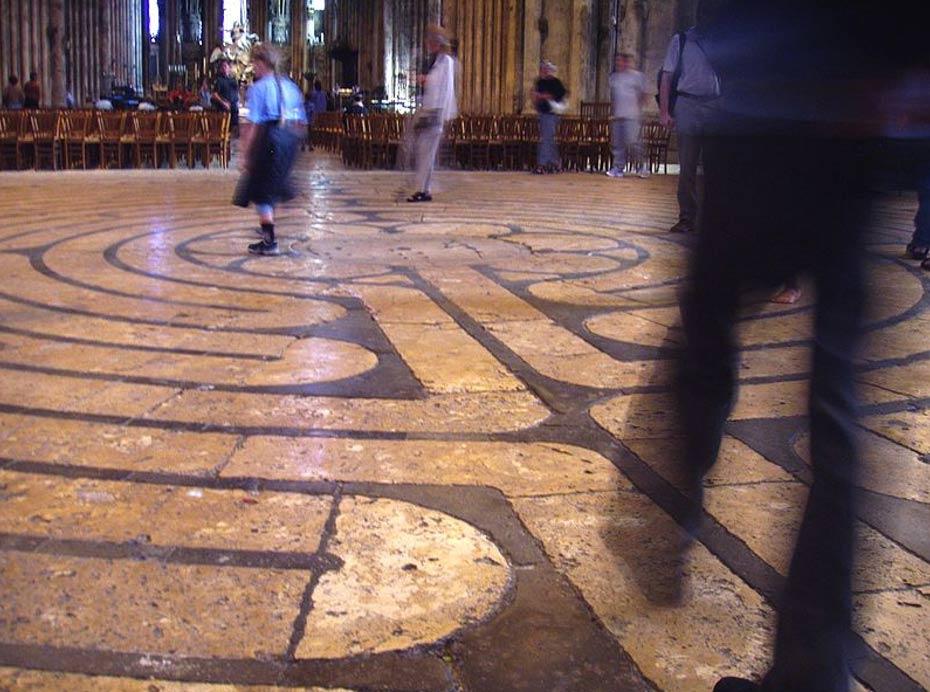 El laberinto de la catedral de Chartres. (CC BY-SA 3.0)