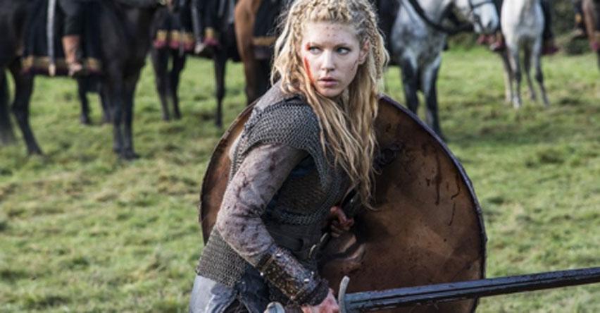 Lagertha – respetada guerrera y actual reina de Dinamarca en la serie de televisión 'Vikingos'. (CC BY SA)