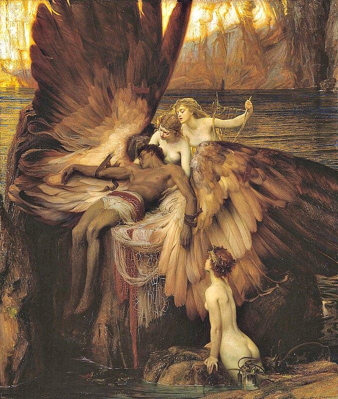 """Desde el mítico Ícaro, el hombre ha soñado con poder volar. En la imagen, """"Lamento por Ícaro"""" (1898), óleo del pintor Herbert James Draper (1863-1920). Galería Tate Britain de Londres, Inglaterra. (Public Domain)"""