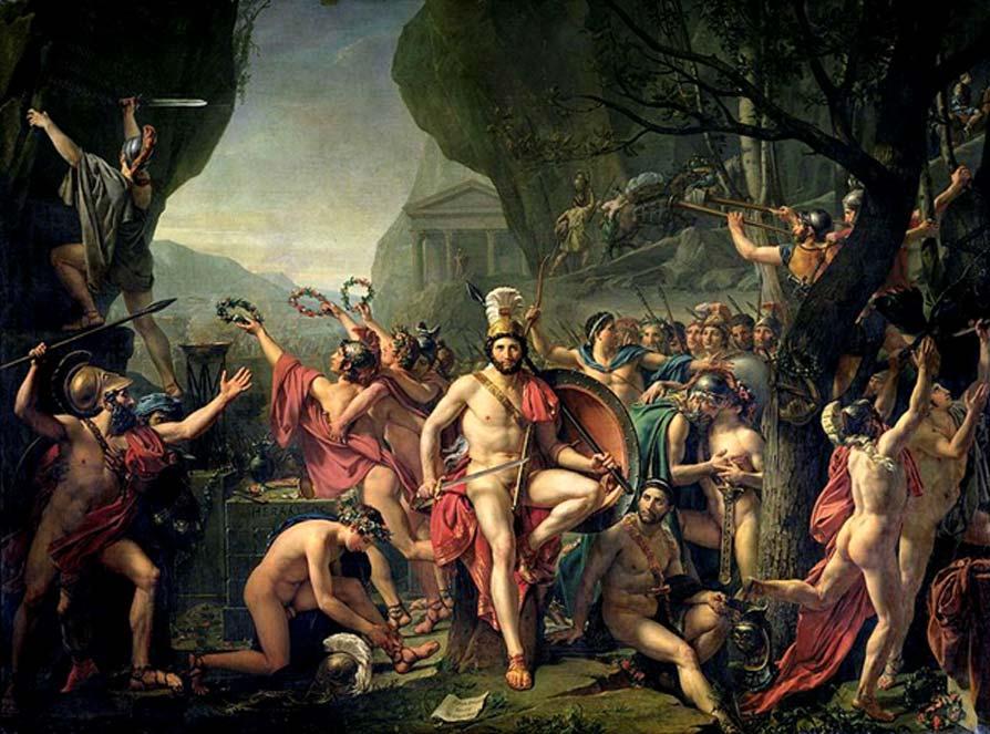 'Leonidas en las Termópilas', óleo de Jacques-Louis David (Dominio público)