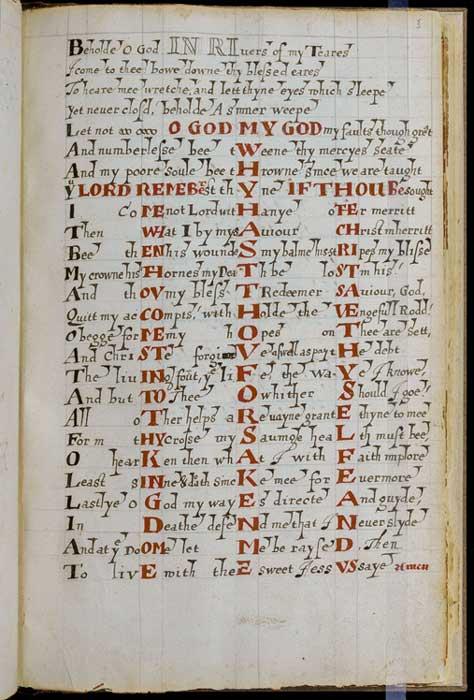 Página del 'Libro del Lugar Común'. Crédito: Biblioteca Newberry
