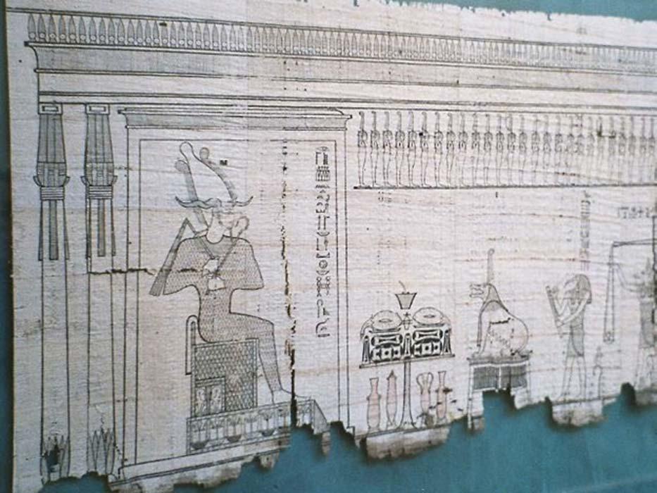 Sección del 'Libro egipcio de los muertos' escrita sobre papiro. (CC BY SA 1.0)