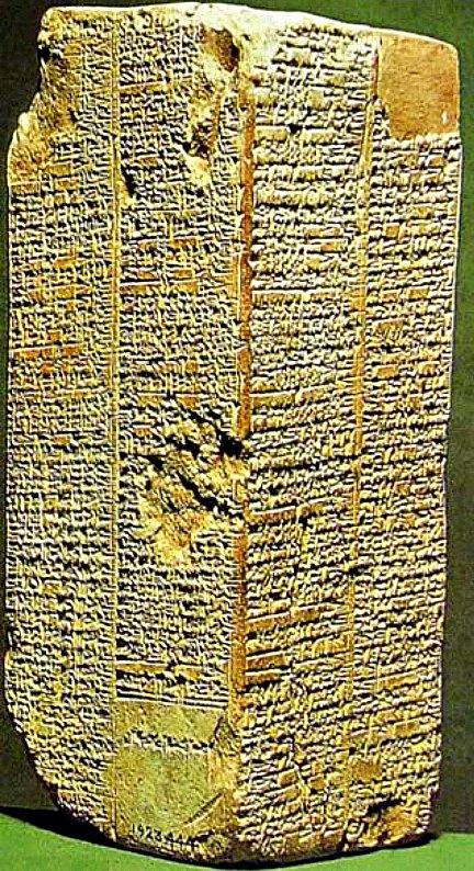 Prisma de Weld-Blundell, la más completa copia de la lista de los reyes sumerios. (c. 2000 a. C.) Museo Ashmolean de Arte y Arqueología, Oxford, Inglaterra. (Public Domain)