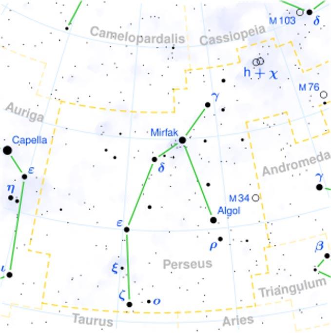 Localización de Algol en la constelación de Perseo. (CC BY SA 3.0)