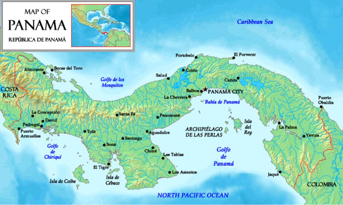 Localización del Archipiélago de las Perlas en el Golfo de Panamá (CC BY-SA 3.0)
