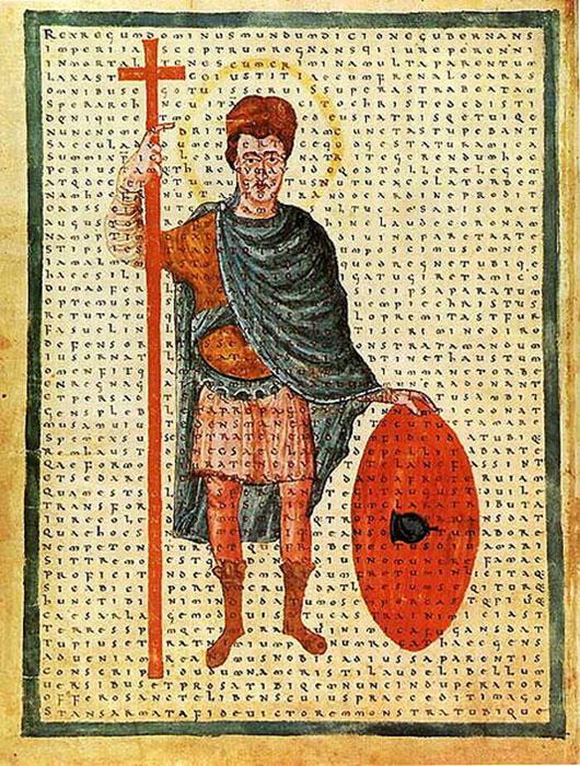 Louis el Piadoso, representación contemporánea del 826 dC como un soldado de Cristo. (Lestath / dominio público)
