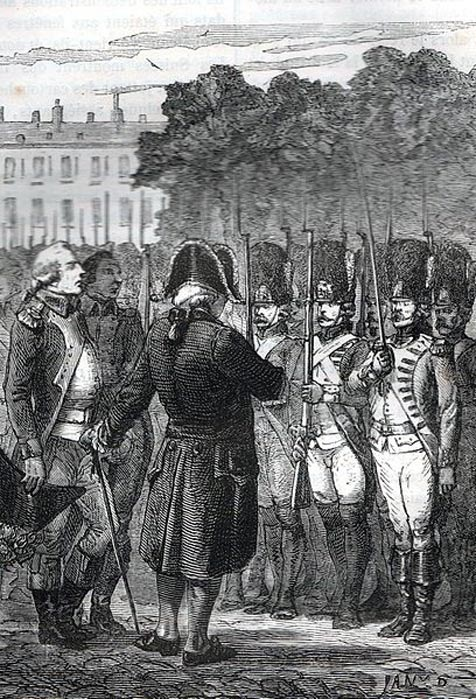 Luis XVI inspeccionando a sus tropas. (Public Domain)
