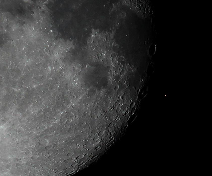 La luna ocultando a Aldebarán (Wikimedia Photo/Christina Irakleous)