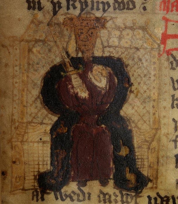 Macsen Wleding en una copia del siglo XV de un manuscrito de Godofredo de Monmouth. (National Library of Wales/CC0 1.0)