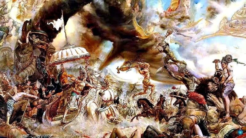 El Mahabharata relata en pasajes concretos un caos y una destrucción que parecen describir los efectos de una guerra nuclear. (Imagen: La Gran Época)