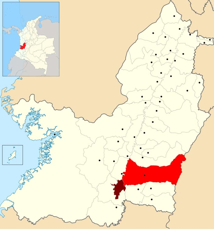 Malagana se encuentra en la municipalidad colombiana de Palmira, en el Valle del Cauca. (CC BY-SA 3.0)