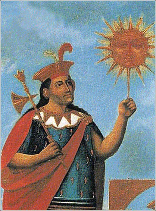 Manco Cápac junto a su padre Inti. (Public Domain)