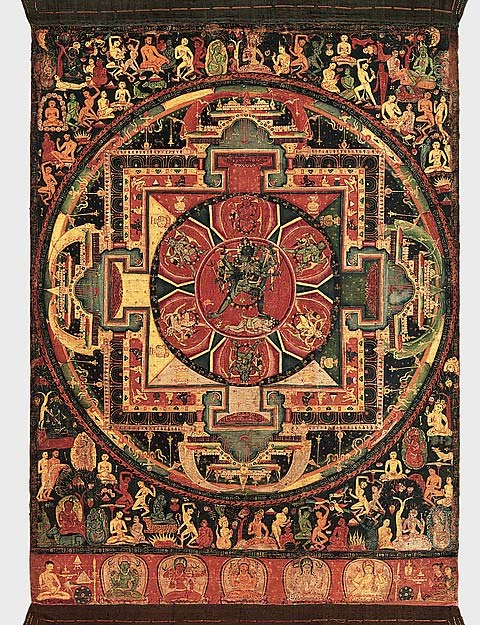 Mandala de Chakrasamvara. (Museo Metropolitano de Arte de Nueva York)