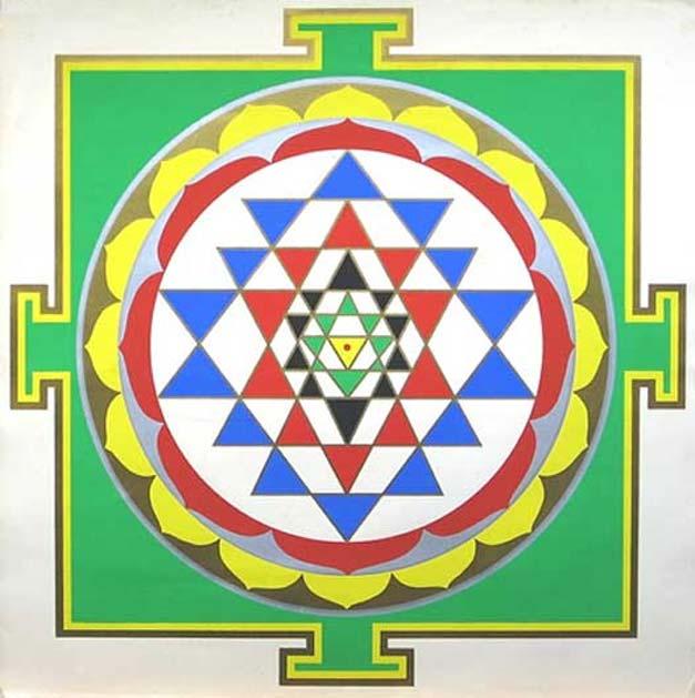 Diseño de mandala realizado con yantras. (Dominio público)