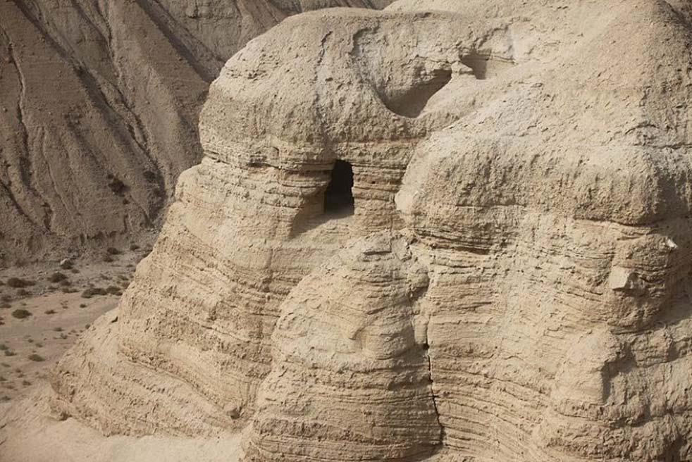 Ubicación de la cueva de Qumrán en la que fueron descubiertos los rollos del mar Muerto. (CC BY-SA 3.0)
