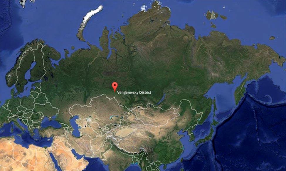 El descubrimiento se ha llevado a cabo en el distrito de Vengerovsky, situado en la región de Novosibirsk. Imagen: The Siberian Times