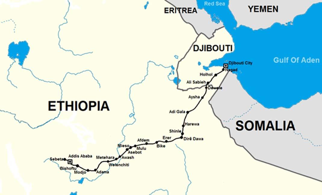 Mapa de África Oriental (Dominio público)