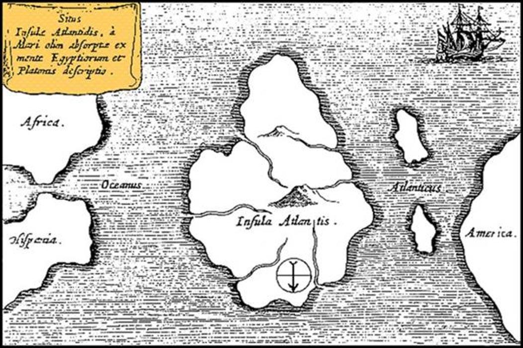 La Atlántida de Platón tal y como aparece descrita en los diálogos Timeo y Critias. (Public Domain)