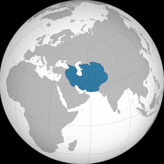 Mapa del Imperio timúrida en torno al año 1400 (Ali Zifan /CC BY-SA 4.0)