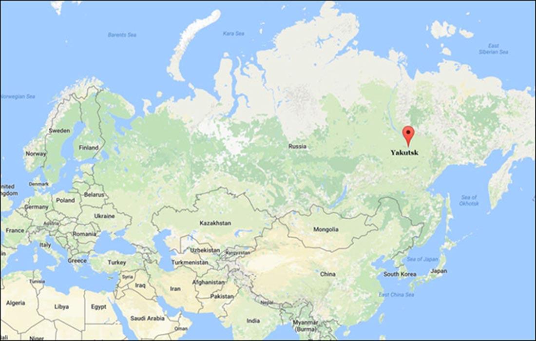 Situación geográfica de Yakutsk