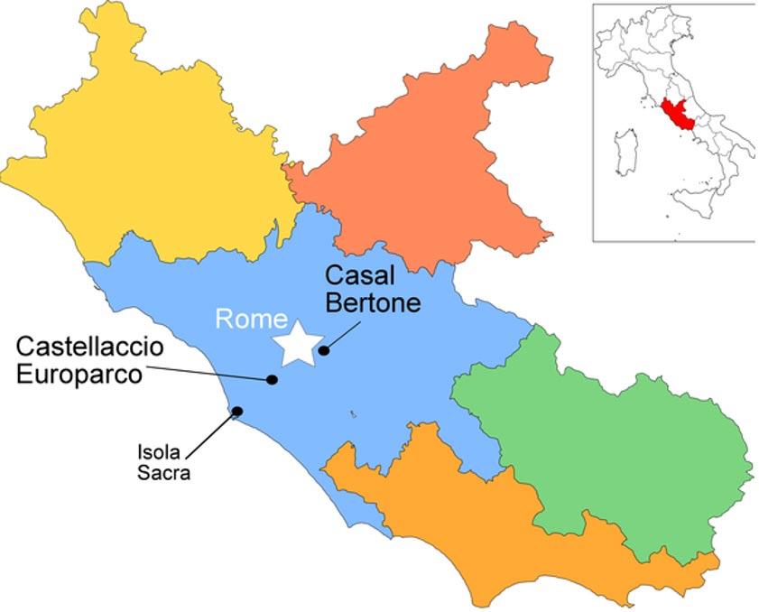 Mapa en el que se observa la localización geográfica de los yacimientos arqueológicos estudiados por las doctoras Killgrove y Montgomery. (Kristina Killgrove, Janet Montgomery)