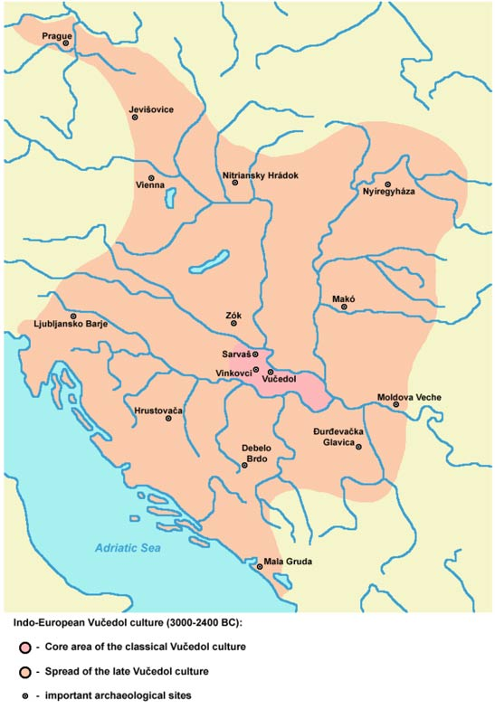 Mapa del área de influencia de la cultura Vučedol. (Public Domain)