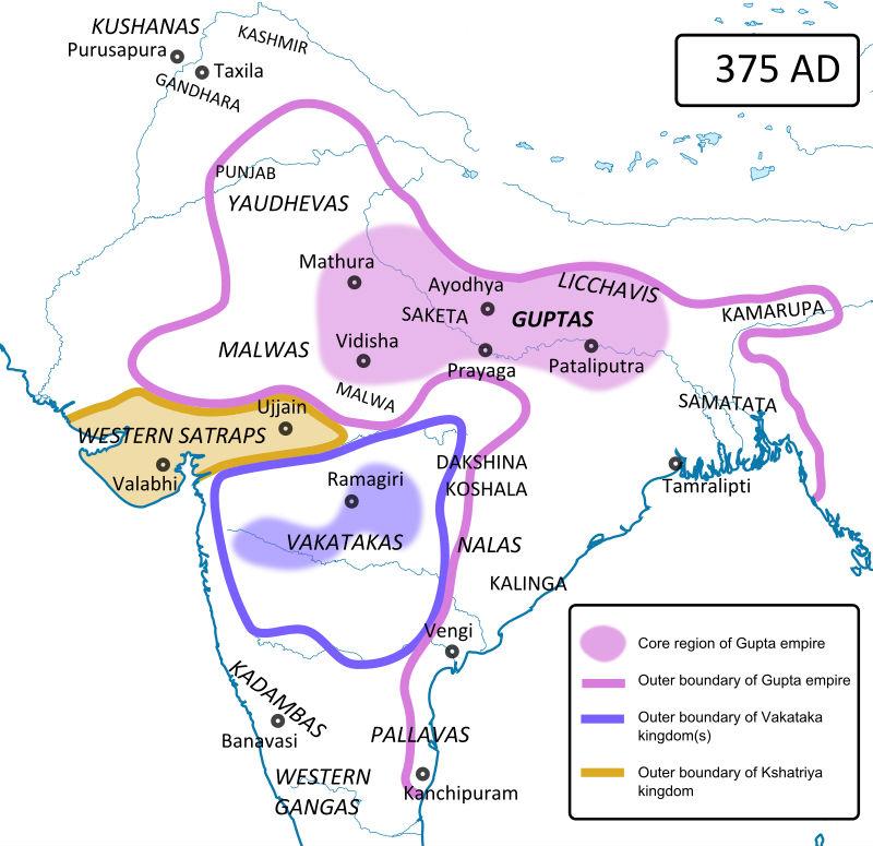 Localización geográfica del Imperio Vakataka. (CC BY-SA 3.0)