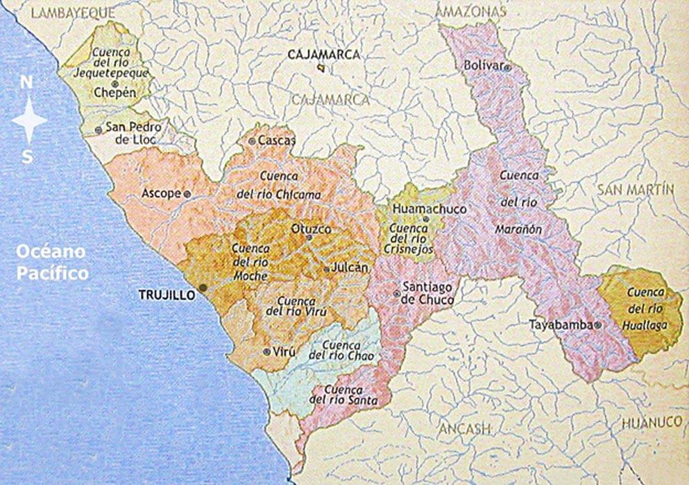 El valle Chicama se encuentra al norte del valle del Moche. (CC BY-SA 3.0)