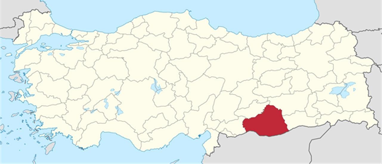 Ubicación geográfica de la provincia turca de Sanliurfa (Wikimedia Commons)