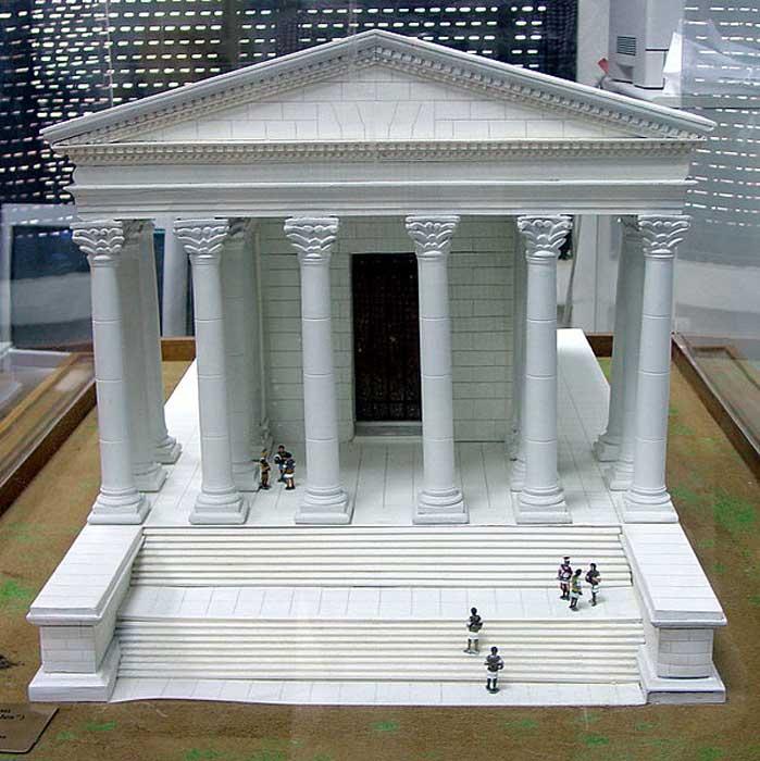 Maqueta del Templo de Hércules en Ammán (American Center for Oriental Research, Jordania)