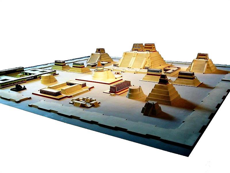 Maqueta de la antigua Tenochtitlán. Museo Nacional de Antropología de Ciudad de México, México. (Public Domain)