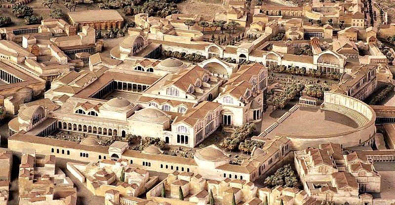 Maqueta de las Termas de Trajano. Museo de la Ciudad de Roma, Italia. (Cassius Ahenobarbus/CC BY-SA 3.0)