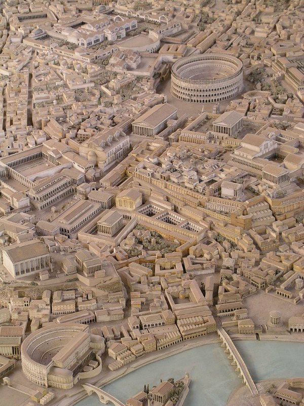 Maqueta recreando la Roma imperial. Museo de la civilización romana. Roma, Italia. (seier+seier+seier/CC BY 2.0)