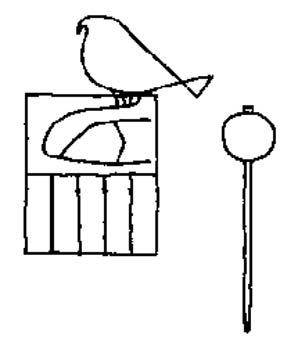 Marca de arcilla con el nombre del faraón Escorpión II (Dietrich Wildung). (GFDL)