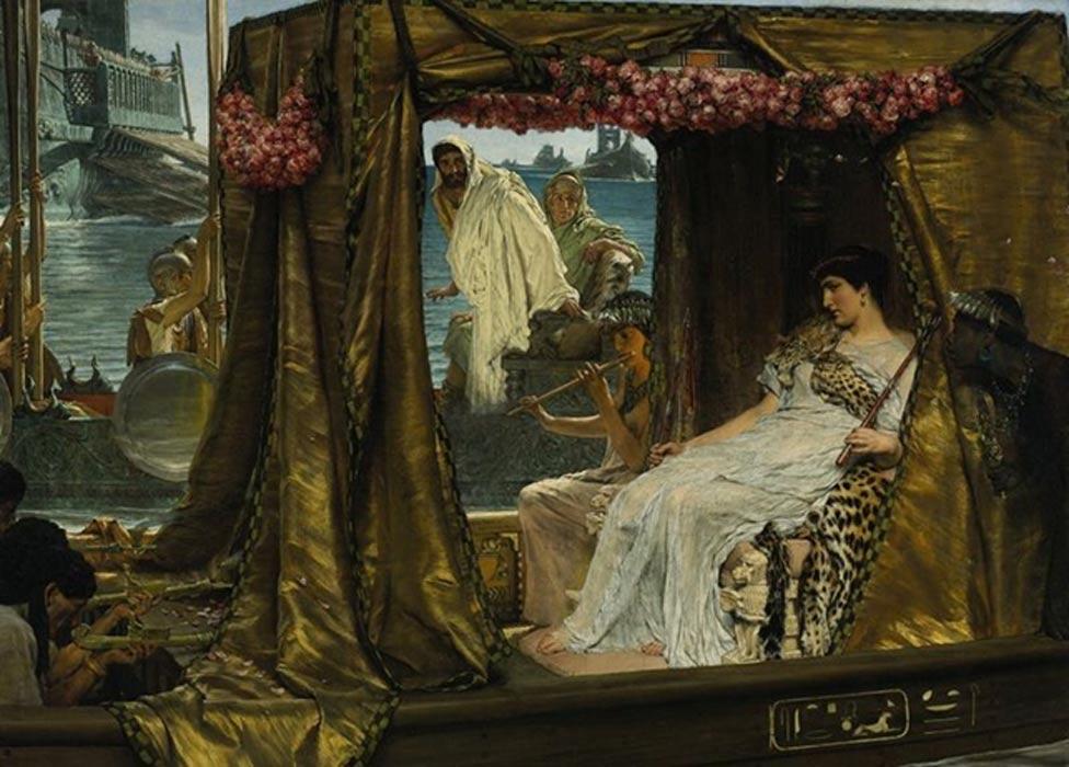 'Marco Antonio y Cleopatra', óleo de Lawrence Alma Tadema pintado en 1885. (Public Domain)