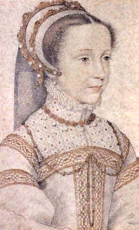 Retrato de María I a la edad de 13 años, obra del pintor François Clouet. (Public Domain)