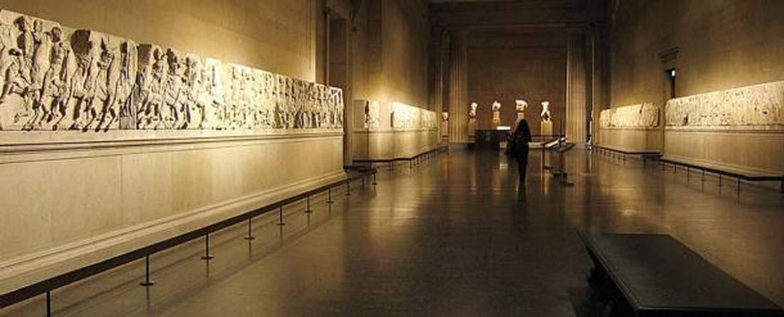 Mármoles del Partenón expuestos en el Museo Británico. (Andrew Dunn/CC BY SA 2.0)