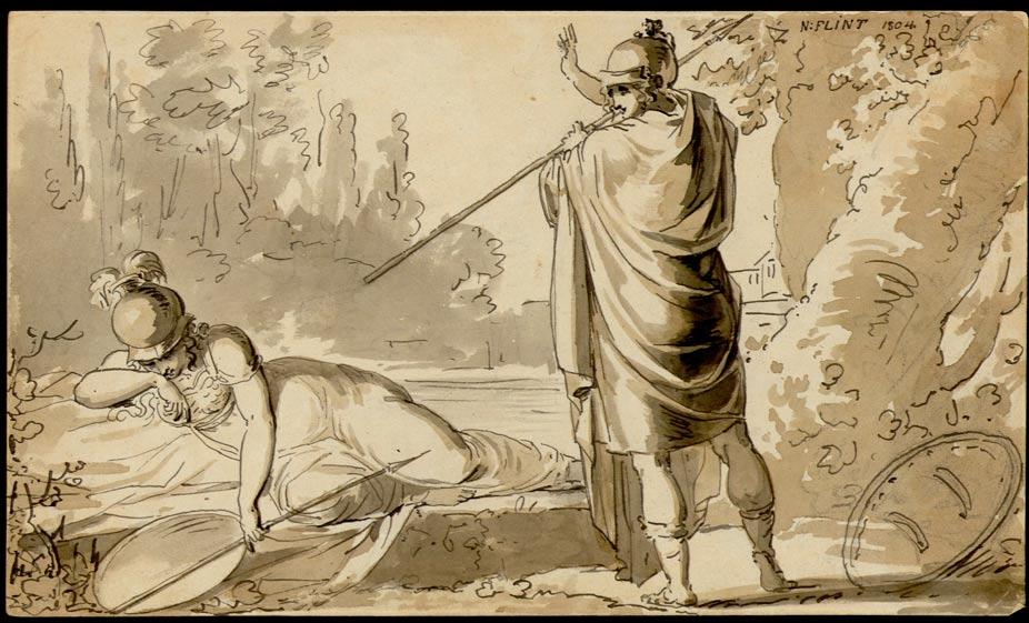 Marte junto a Minerva, retratada como diosa de la guerra. (Museo Thorvaldsen/CC BY-SA 1.0)