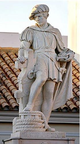 Estatua de Martín Alonso Pinzón, Palos de la Frontera. (CC BY SA 2.5)