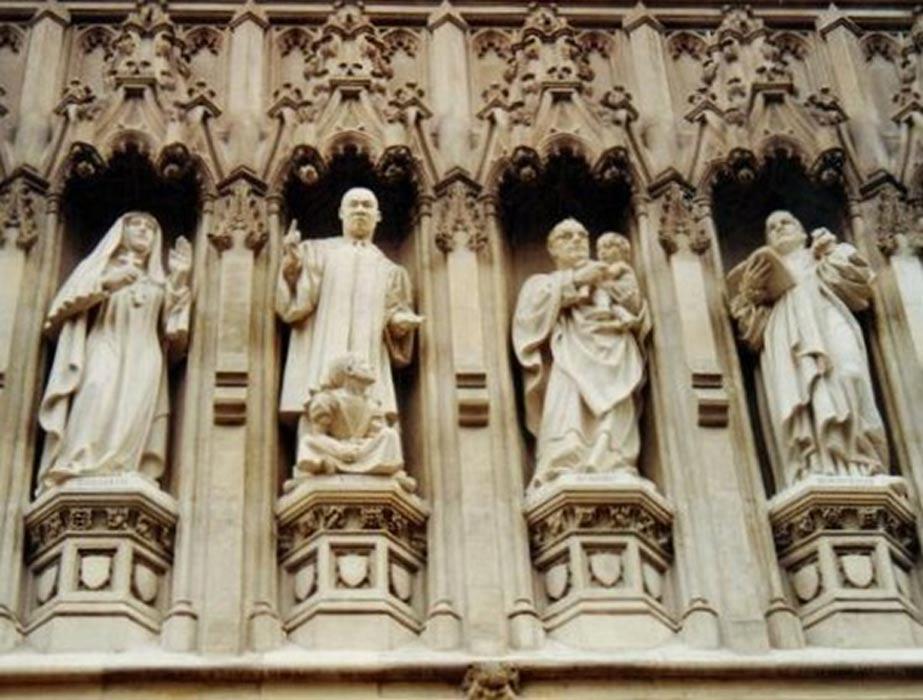 Detalle de la Galería de Mártires del siglo XX de la Abadía de Westminster. (CC BY-SA 3.0)