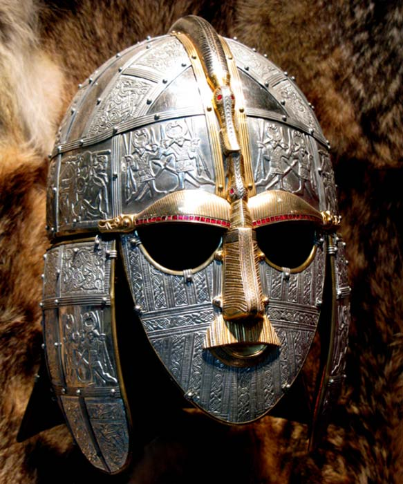 Réplica de máscara anglosajona descubierta en Sutton Hoo (Bill Tyne / Flickr)