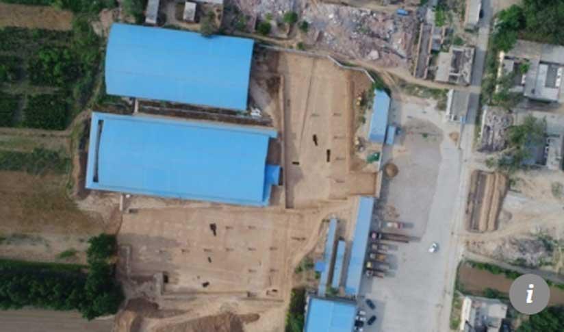 El gran complejo funerario y mausoleo que se cree que alberga los restos de Cao Cao y su primer hijo. Crédito: 163.com