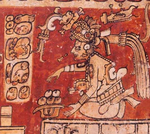 Dios maya D, Itzamná. (Dominio público)